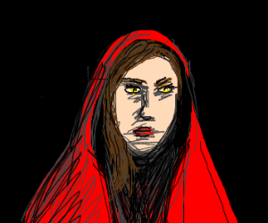 demented little red riding hood