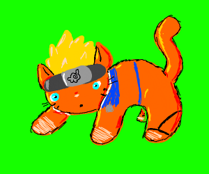Naruto... but a cat