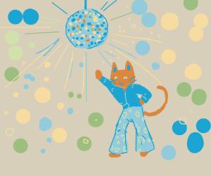 Cool Disco Cat