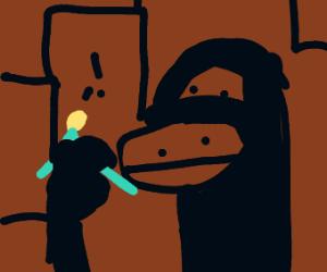 King Kong holding Surgeon