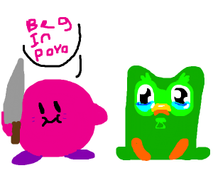 Kirby With A Knife Tells Duo To Beg In Poyo Drawception High quality kirby with knife gifts and merchandise. kirby with a knife tells duo to beg in