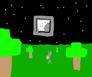 minecraft skyline @ night