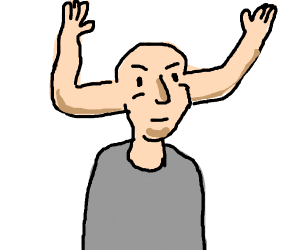 the most powerful being: arm head man