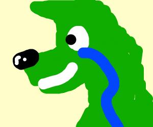 Green furry sweating like jotaro P4