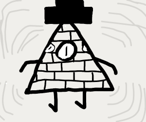black triangle with eyes