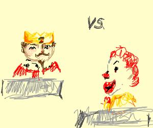 burger kind vs ronald mcdonald