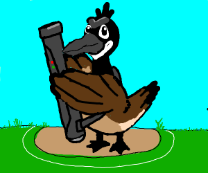 farfetch'd but it's a canada goose with a r