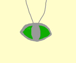 All-seeing eye stone necklace