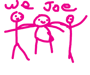Three joes hanging out
