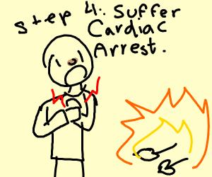Step 3: Burn the heart-shaped herbs