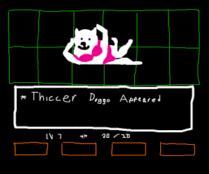 dog from undertale with thicc  legs