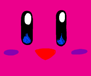 Kirby's face