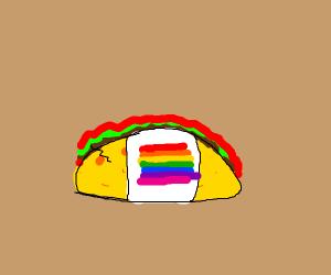 Rainbow taco