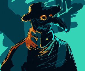 Cyberpunk Plague Doctor
