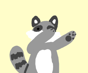 Dabbing racoon furry