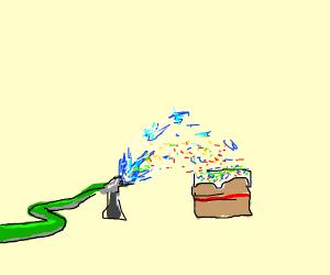 A sprinkler sprinkling sprinkle