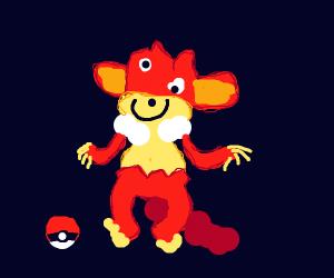 a sad pansear (pokemon)