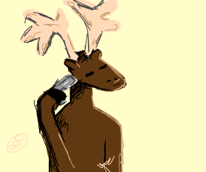 Moose killing himself with a gun