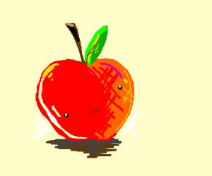 apple in a bouncy house