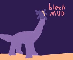 dinobeetle doesn't like the taste of mud