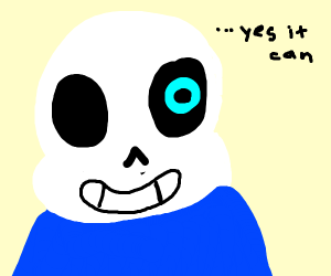 The last panel cant be Sans