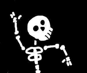 Skeleton does the waveeee