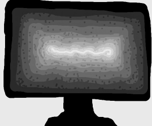 Trippy Tv (black and white)