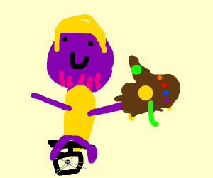 Thanos on a unicycle