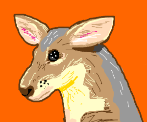 Its a joey with terrifying button eyes