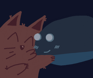 World's BIGGEST Kitten kisses a Blue Whale