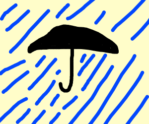 Raining umbrella