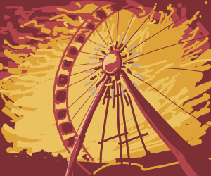 Ferris Wheel on Fire