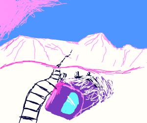 fallen pink train