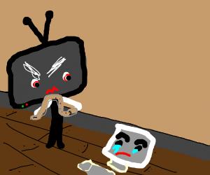 TV beats computer