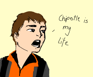 Man Overwhelmed By Love For Chipotle