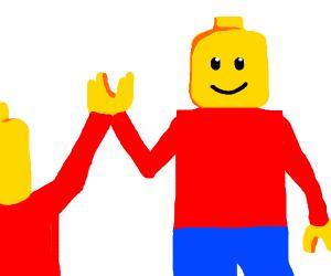 LEGO hi five!