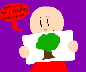 Guy likes a tree drawing
