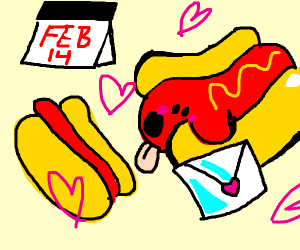 Hotdogs for Valentines Day