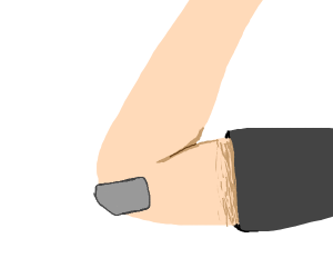 tape on your elbow