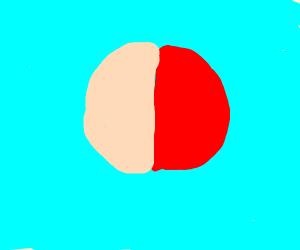 Half Pink Half Red