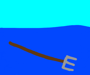 pitchfork in water