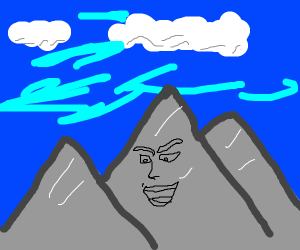 Mountain with face