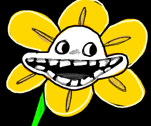 Flower with a massive creepy grin