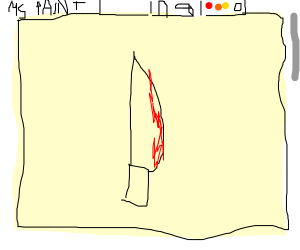 Knife in MS paint