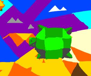 turtle on the sand.