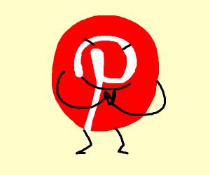 Pinterest icon's planning something.