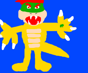 Bowser has the tiny frog
