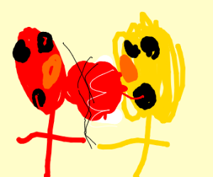 Elmo and yelmo make out