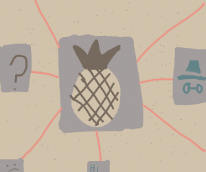 Pineapples on a conspiracy board