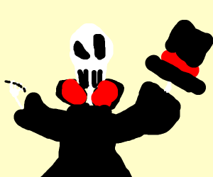 Skelton magician